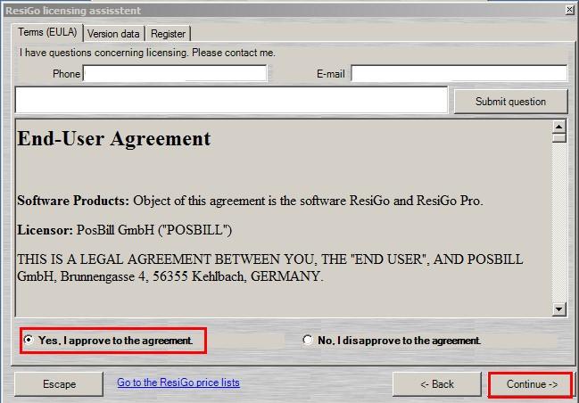 ResiGo hotel software licensing